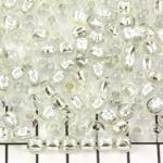 murano beads - silver