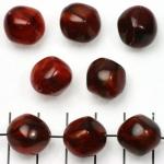 kunststof natuurstenen rondig 15 mm - rood met goudkleurige glans