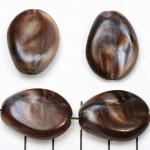 kunststof natuurstenen plat 20 mm - bruin schelpenglans