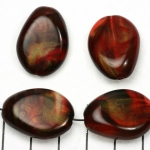kunststof natuurstenen plat 20 mm - rood met goudkleurige glans
