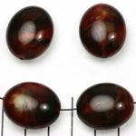 kunststof natuurstenen ovaal 24 mm - rood schelpenglans