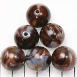 kunststof natuurstenen rond 20 mm - bruin schelpenglans