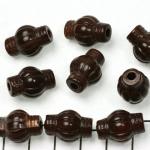 kunststof natuurstenen rond met cilinder uiteinden - bruin