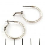 closing earrings 25 mm - zilver