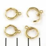 closing earrings 12 mm - gold