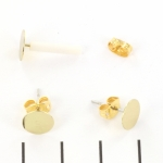 earring flat round - gold