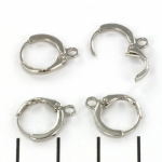 sluitbare oorhangers 12 mm - zilver