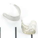 metal ear cuff - leaf silver