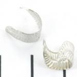metalen ear cuff - blad lichtzilver