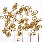 open ring goud - 4 mm