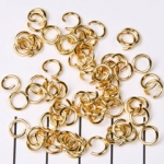 open ring goud - 6 mm