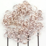 open ring licht rose goud - 6 mm
