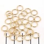 jump ring gold - 8 mm with perfect closing