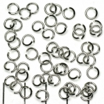 jump ring nickel silver - 6 mm