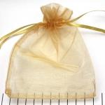 organza cadeau zakjes - 10 x 14 cm goud