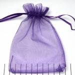 organza cadeau zakjes - 10 x 14 cm lila