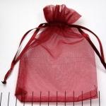 organza cadeau zakjes - 9 x 15 cm rood