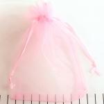 organza cadeau zakjes - 10 x 15 cm babyroze