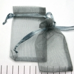 organza cadeau zakjes - 6 x 10 grijs