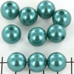 acrylic pearls round 14 mm - turquoise