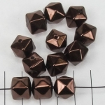 kunststof parels kubus - bruin