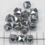 kunststof parels kubus - zilver