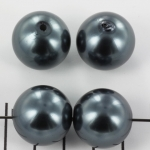 acrylic pearls round 20 mm - anthracite black