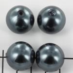 kunststof parels rond 20 mm - antraciet zwart
