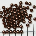 acrylic pearls round 6 mm - dark brown