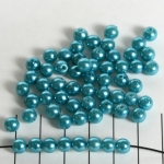acrylic pearls round 6 mm - turquoise