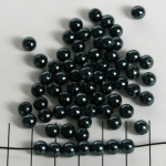 acrylic pearls round 6 mm - anthracene black
