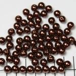 kunststof parels rond 8 mm - donkerbruin