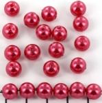 kunststof parels rond 8 mm - donkerroze