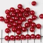 kunststof parels rond 8 mm - donkerrood