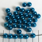 acrylic pearlsround 8 mm - dark turquoise