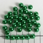 kunststof parels rond 8 mm - groen