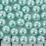 acrylic pearlsround 8 mm - blue