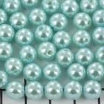 kunststof parels rond 8 mm - blauw