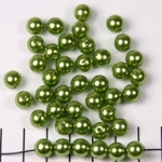 kunststof parels rond 8 mm - lichtgroen