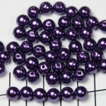 acrylic pearlsround 8 mm - purple