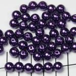 kunststof parels rond 8 mm - paars