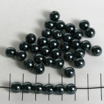 kunststof parels rond 8 mm - antraciet zwart