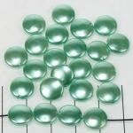 acrylic pearlsround flat - blue green