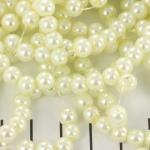 glasparels 6 mm - gebroken wit licht beige
