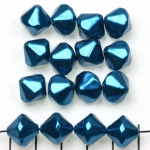 acrylic pearls conical - dark turquoise