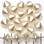 acrylic pearls conical - ivory