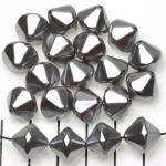 kunststof parels konisch - zilver