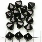 kunststof parels konisch - zwart