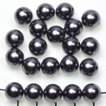 kunststof parels rond 10 mm - donkergrijs