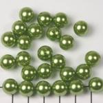 kunststof parels rond 10 mm - lichtgroen